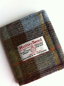 wallet, leather wallet, Harris tweed wallet, mens gift, Scottish gift, boyfriend