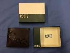 Roots Brown Genuine Leather Wallet In Box (454)