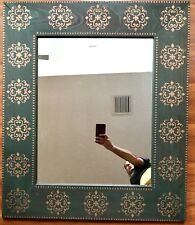 Rare Spanish Revival Olive Green Mirror Wood Gold Painted Wall Decor 36x30 Irish