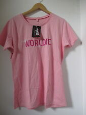 T SHIRT FEMME WORLDIE GEORDIE SHORE OFFICIAL TAILLE PETIT XL ETHICAL TRADE ROSE