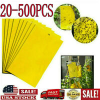 20x Sticky Fly Trap Ribbon Fly Bait Strip Flies Insect Glue Catcher Double-sided