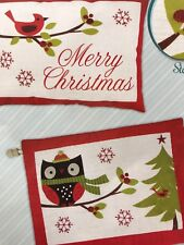 Cardinal Or Owl Holiday Pillow or  Wall Hanging Embroidery Kit  Needle Creations