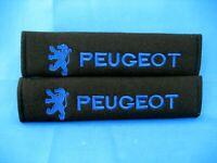 2x Peugeot Logo Embroidered Car SeatBelt Seat belt Shoulder Cover Pads pair