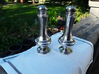 Vintage Salt And Pepper Shakers. Silverplate On Lead. Antique Collectibles