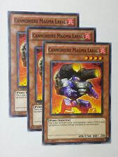 Set 3X  CANNONIERE MAGMA LAVAL  GENF-IT026 Comune in Italiano YUGIOH