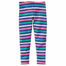 NWT CARTER'S Baby Girl Striped Leggings Pants Sz 18 months US Multicolor Cotton