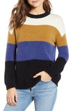 RAILS Womens Size M Sylvie Fuzzy Oversized Pullover Sweater Honeycomb Multi