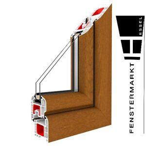 Fenster Golden Oak - 1 flügelig Dreh-Kipp PVC Fenster Golden Oak Kunststoff