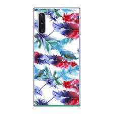 Funda gel dibujo plumas 2 para Samsung Galaxy NOTE 10 plus