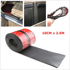 10CM/2.5M Car Carbon Fiber Strip Door Side Body Bumper Edge Scratch Sticker Trim