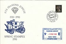 Gb Stamp World 1990 Philatelic Traders Society Diamond Jubilee cover:Upu Day pmk