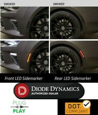 Set Smoked LED Rear Side Marker Lights for 2016-2018 Chevy Camaro (Front & Rear)