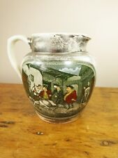 Vintage Adams Tunstall lustre jug Dr Syntax Death of Punch silver