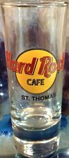 "Hard Rock Cafe St. Thomas 4"" Shot Glass Classic Hrc Logo Black Text Cordial Rare"