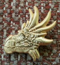 Dragon Head (misty gold plate) Lapel Pin - Game Of Thrones Smaug Hobbit Dragon
