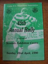 22/04/1990 Celtic: Annual Rally, Programme For The 45th Event Held By The Celtic