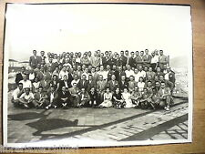 Old Photo employees or used to Port of Salerno 1952 Waterfront PORT