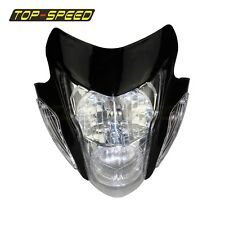 Streetfighter Nake Black Sonic Style Headlight For Yamaha CRF XR Kawasaki KLX KX