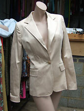 Italian Designer Roberto / Just Cavalli Stunning Pale Apricot Dressy Jacket IT40