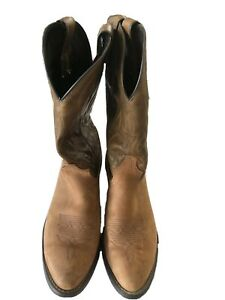 Mens Laredo Taupe/Brown Leather Cowboy/Western Boots, 2573 Size 9D 1990's
