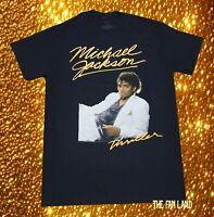 New Michael Jackson Thriller Black King of Pop Vintage Mens T-Shirt