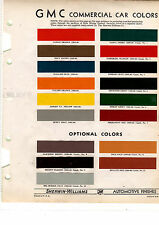1935 1936 1937 1938 1939 1940 1941 1942 1946-1952 GMC TRUCKS PAINT CHIPS SW 17PC