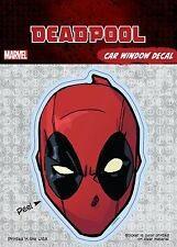 Marvel Deadpool Mask Car Window Decal Sticker Auto - Official