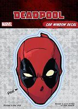 Marvel Deadpool Mask Car Window Decal Sticker Auto - Official