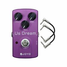 Joyo JF-34 US Dream High-Gain Distortion Guitar Effects Pedal w/ 2 Patch Cables