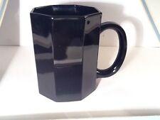 ARCOROC FRANCE BLACK GLASS OCTIME COFFEE MUG