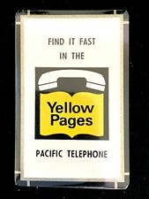 Vintage Pacific Telephone Advertising Playing Cards Yellow Pages MIB
