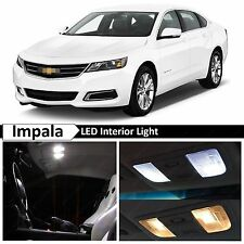 13x White LED Lights Interior Package Kit for 2014-2016 Chevrolet Impala