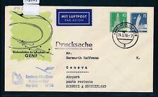 13357) LH FF Hamburg - Genf Schweiz 24.5.59, SoU