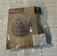 Brand New Boy Scouts Three Inch Round Basket Weaving Kit Beginners For Charity