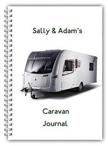 A5 PERSONALISED NOTEBOOK CARAVAN JOURNAL LOG BOOK 50 LINED BLANK DETAIL PAGES 01