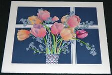 KATHY MITCHAM TULIPS LIMITED EDITION ETCHING PRINT FLOWERS