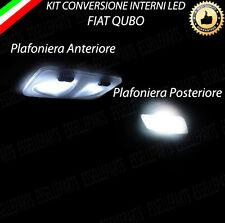 KIT FULL LED INTERNI FIAT QUBO PLAFONIERA  ANTERIORE + POSTERIORE  6000K