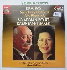 SXLP 30529 - BRAHMS - Symphony No 2 / Alto Rhapsody BOULT / BAKER - Ex LP Record