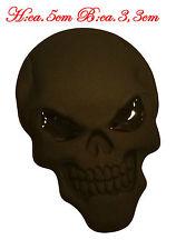 ☼ METALL Totenkopf Kopf 3D Aufkleber Schwarz Skull Auto PKW Sticker Emblem