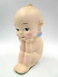 Porcelain KEWPIE Sitting Position Thinker 6 in. Tagged School Of The Ozarks Gift