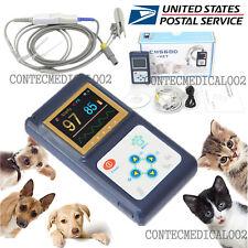 Veterinary pulse oximeter Handheld SPO2 Pr monitor Vet Tongue Probe+Software,USA