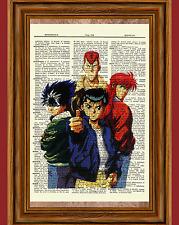 Yu Yu Hakusho Anime Dictionary Art Print Poster Picture Manga