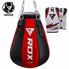RDX Heavy Punch Bag Maize Pear Angle Unfilled MMA Boxing Gloves Kick Muay Thai