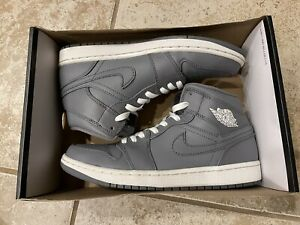 Nike Air Jordan 1 Mid Cool Grey White Men's 8.5 SKU: 554724 003