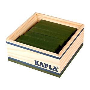 Kapla-Holzplättchen 40er Box Green Pine Wood Building Blocks Box (C40V) New! #
