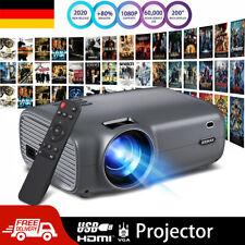 4K Full HD 1080P Mini LED Portable Projektor Heimkino Beamer Home Multimedia SD