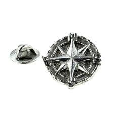 Nautical Compass Pewter Lapel Pin Badge XWTP137