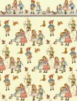 Melody Jane Puppenhaus Miniatur 1:24 Kinder Kinderzimmer Rhyme Creme Tapete
