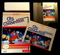 1988 Nintendo NES City Connection Video Game Cartridge, Box & Manual CIB Nice!