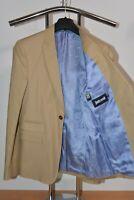 Just CAVALLI Designer Sakko Jacket Size Größe 46 Beige Blazer blaues Innenfutter